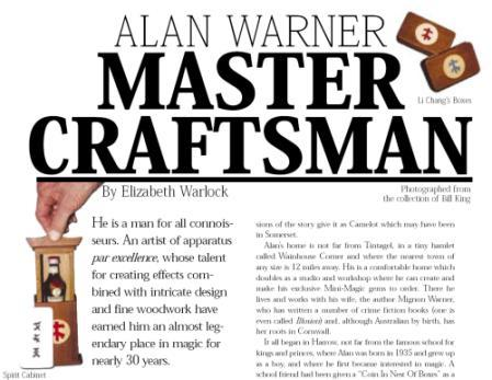 Alan Warner - Master Craftsman